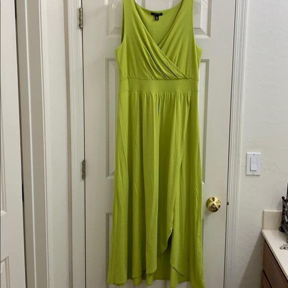 Lands' End Dresses & Skirts - 🦋 Lands End Chartreuse maxi dress Med